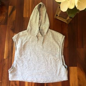 Puma Heather Gray Sweatshirt Hoodie - Sz M